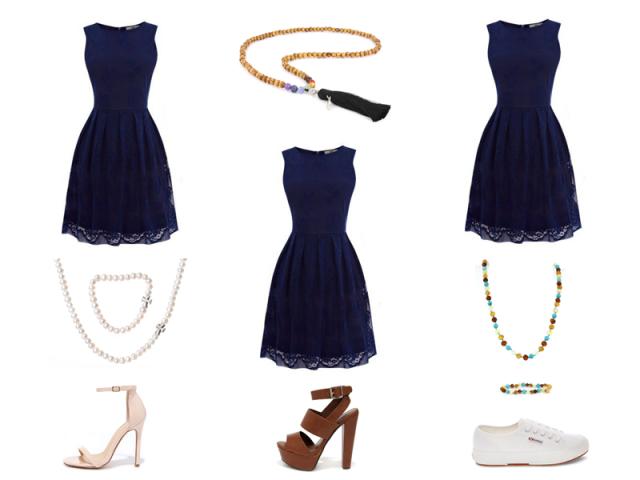 Outfit: Modrá - 3krát inak