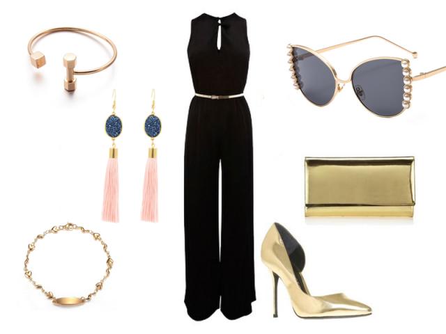 Outfit: Zlaté doplnky