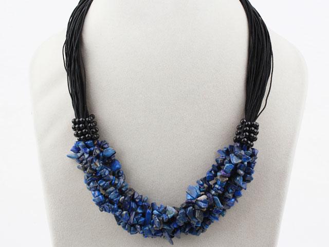 Viacprameňový náhrdelník lapis lazuli