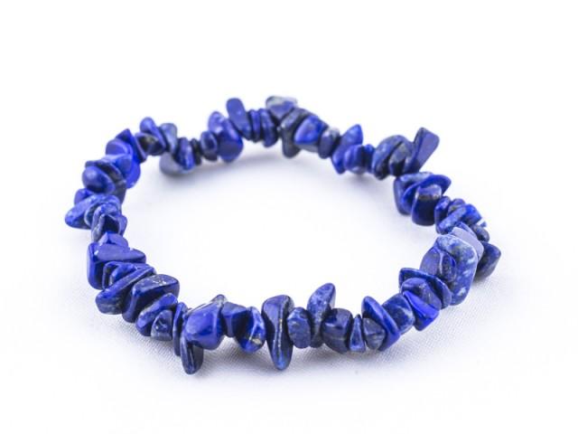 Elastický sekaný náramok lapis lazuli