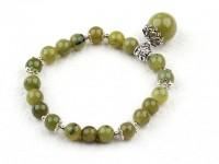 Náramok olivový jadeit