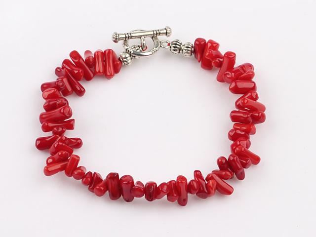 Náramok sekaný červený koral