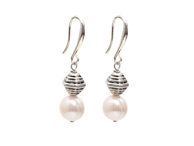 Náušnice 10-11 mm prírodná biela riečna perla