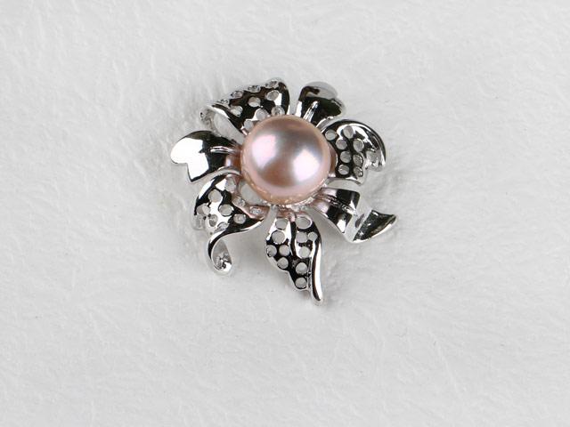 Prívesok v tvare kvetu fialová riečna perla II (bez retiazky)