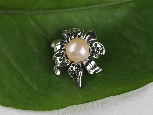 Prívesok v tvare kvetu ružová riečna perla II (bez retiazky)