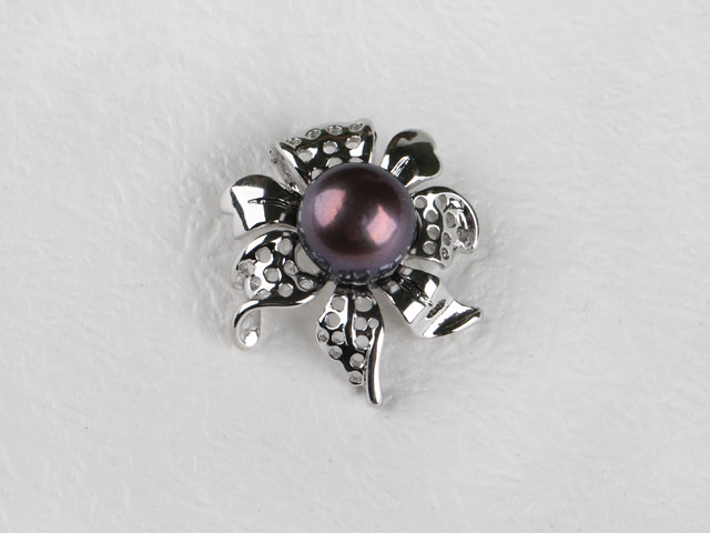 Prívesok v tvare kvetu sivá riečna perla II (bez retiazky)
