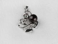 Prívesok čierna riečna perla (bez retiazky)