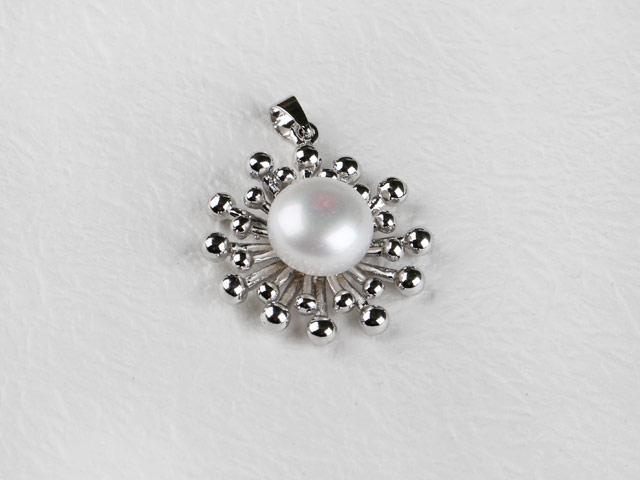 Prívesok biela riečna perla II (bez retiazky)
