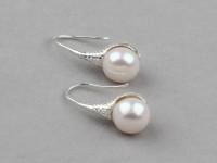 Náušnice biela riečna perla