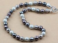 Náhrdelník facetované shell perly - 4 farby