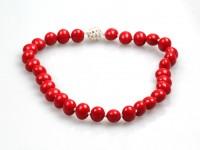 Náhrdelník červené shell perly