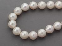 Náhrdelník 9-10mm biele riečne perly (A kvalita)