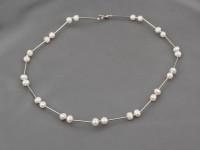 Náhrdelník 6-7 mm biele riečne perly