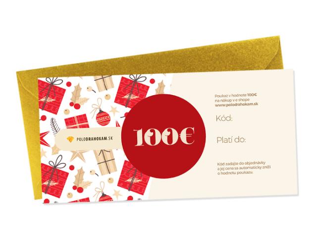 Vianočný darčekový poukaz v hodnote 100€