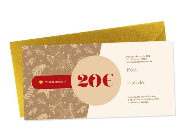 Vianočný darčekový poukaz v hodnote 20€
