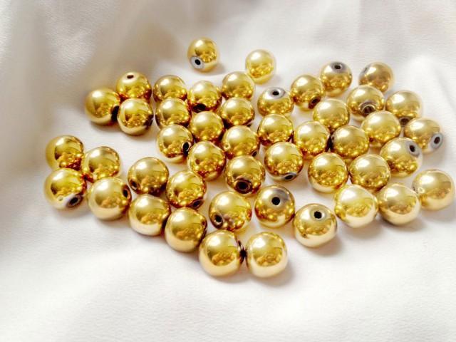 Hematit - zlatý 8mm