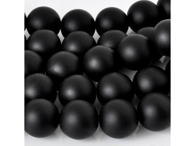Ónyx čierny - matný 10mm