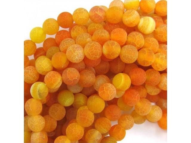 Achát - oranžový frost 10mm