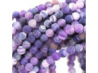 Achát - fialový frost 10mm