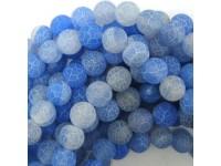 Achát - modrý frost 10mm