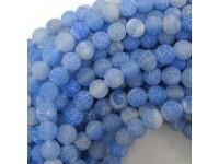Achát - modrý frost 8mm