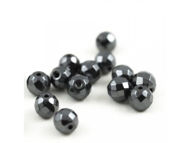 Hematit - čierny brúsený 10mm
