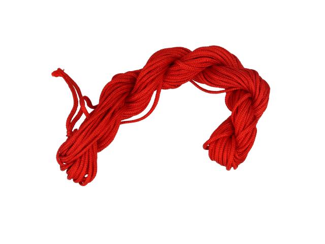 Šnúrka - červená 1mm