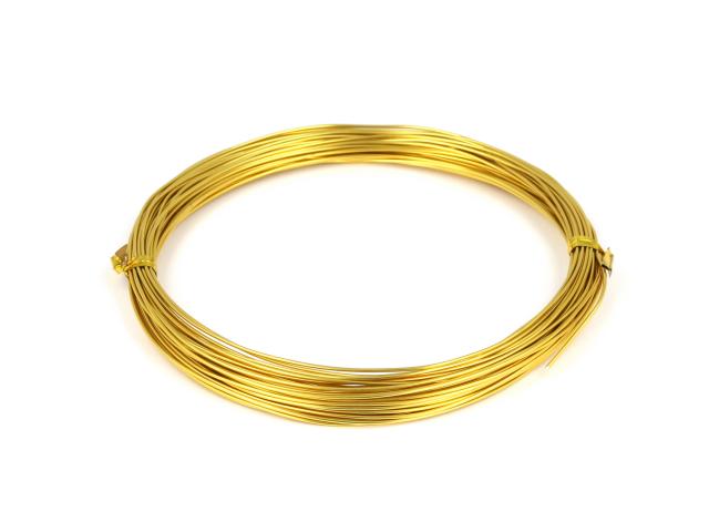 Hliníkové lanko 0,8mm - zlatá