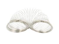 Pamäťový drôt 65x0,5mm - 100 závitov - platinová