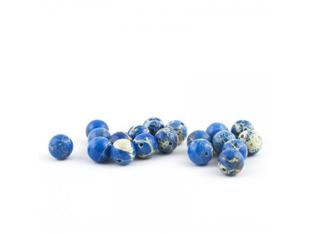 Modrý imperial jaspis 10mm