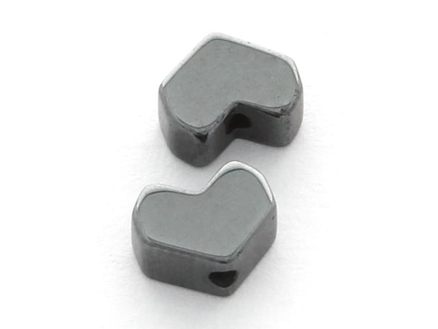 Hematit hranaté srdiečko 5x6,5x2mm