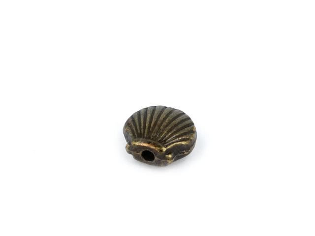 Kovová korálka - lastúra - starobronzová