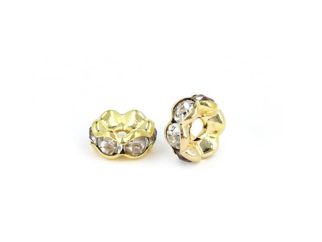 Rondelka s krištálikmi - zlatá