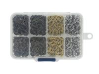 Box - kovové predeľovacie korálky kvet 8,5x3mm - rôzne farby