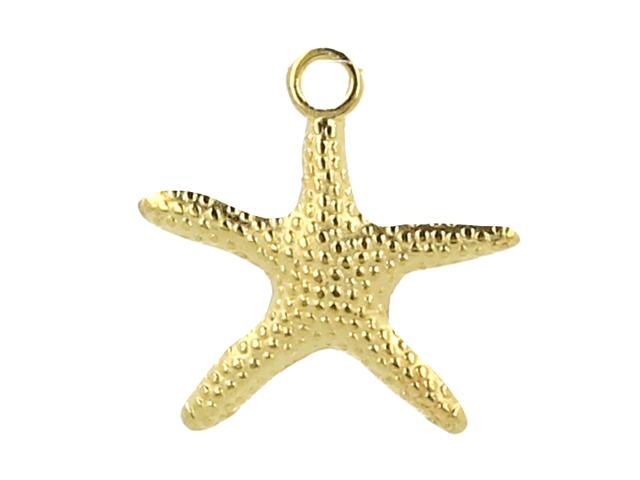 Kovový prívesok - hviezdica - zlatá
