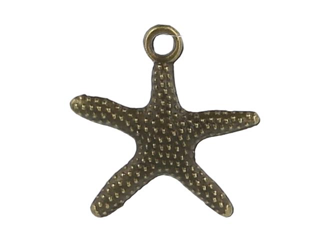 Kovový prívesok - hviezdica - starobronzová