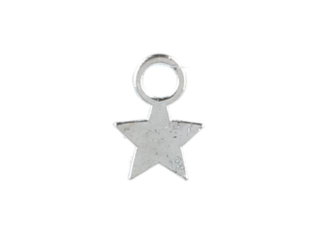Kovový prívesok - hviezdička - strieborná