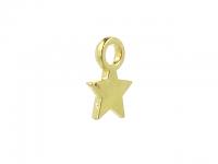 Kovový prívesok - hviezdička - zlatá