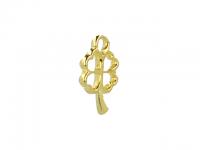 Kovový prívesok - štvorlístok - zlatá