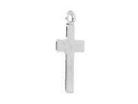 Kovový prívesok - krížik - starostrieborná