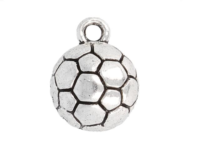 Kovový prívesok - futbalová lopta - starostrieborná