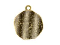 Kovový prívesok okrúhly - mačka - starozlatá