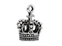 Kovový prívesok - koruna II - starostrieborná