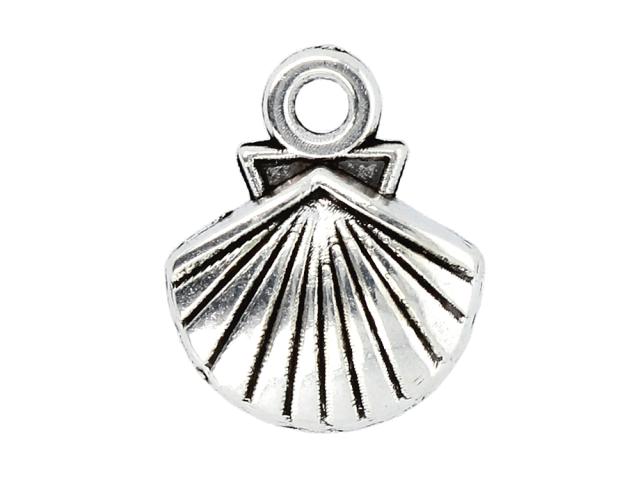 Kovový prívesok - lastúra - starostrieborná