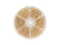 Box - spojovacie krúžky dvojité 4-10mm - zlatá