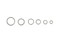 Box - spojovacie krúžky dvojité 4-10mm - platinová