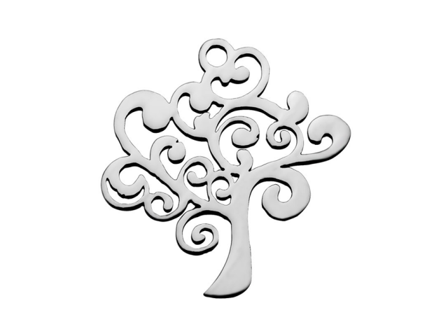 Prívesok z chirurgickej ocele - strom