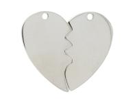 Dvojprívesok z chirurgickej ocele - rozlomené srdce