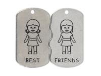 Dvojprívesok z chirurgickej ocele Best friends