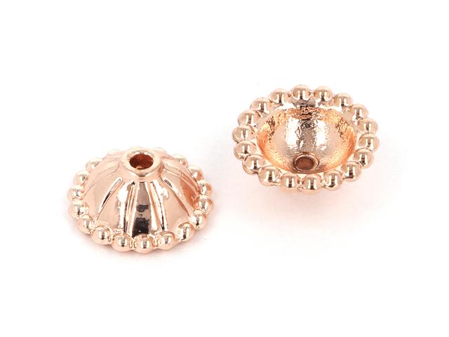 Kaplík č.2 10x5mm - ružovo-zlatá (bal. 10ks)